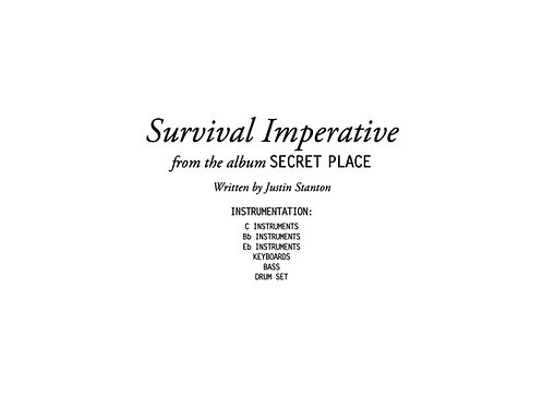 """Survival Imperative"" score and parts"