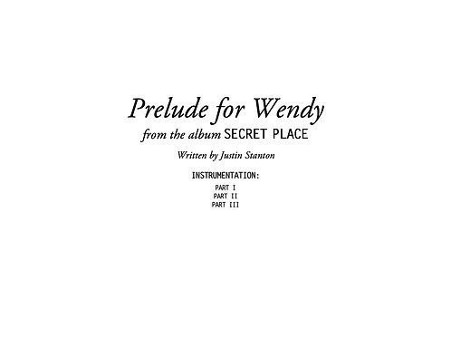 """Prelude for Wendy"" score and parts"