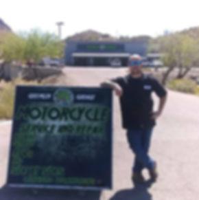 Jon Ritzheimer standing in front of The Gremlin Garage