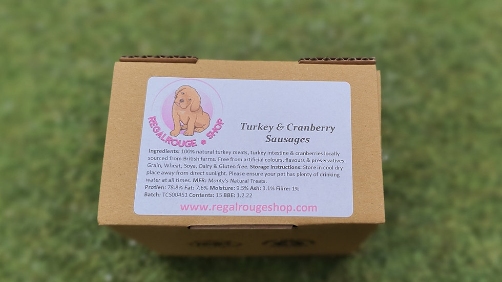 Natural Turkey and Cranberry Sausages