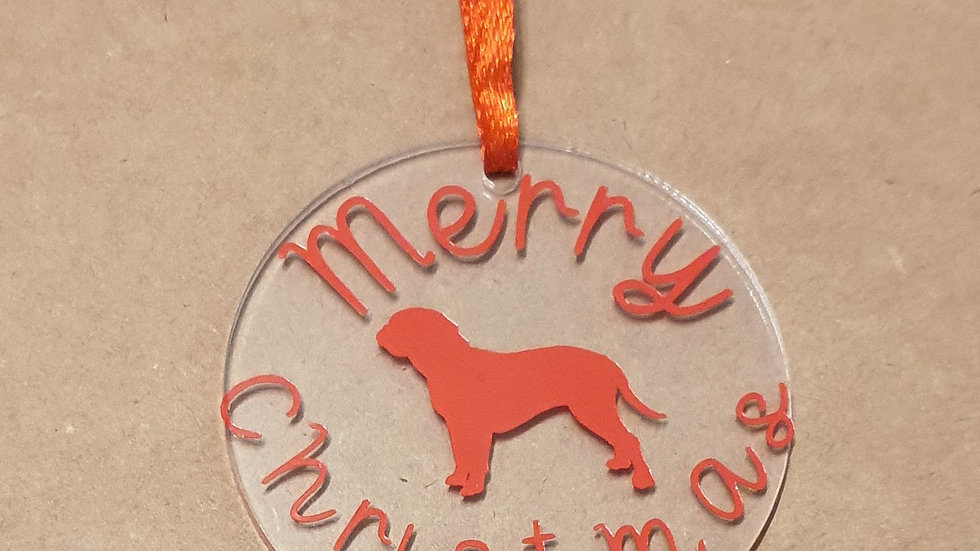 Dogue de Bordeaux Charity Christmas Tree Decorations (100% of funds to Charity)