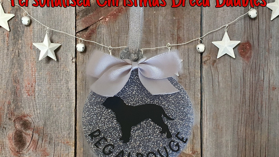 Christmas Breed Baubles - Personalised
