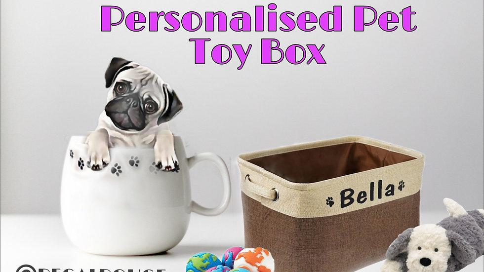 Personalised Dog Toy Box
