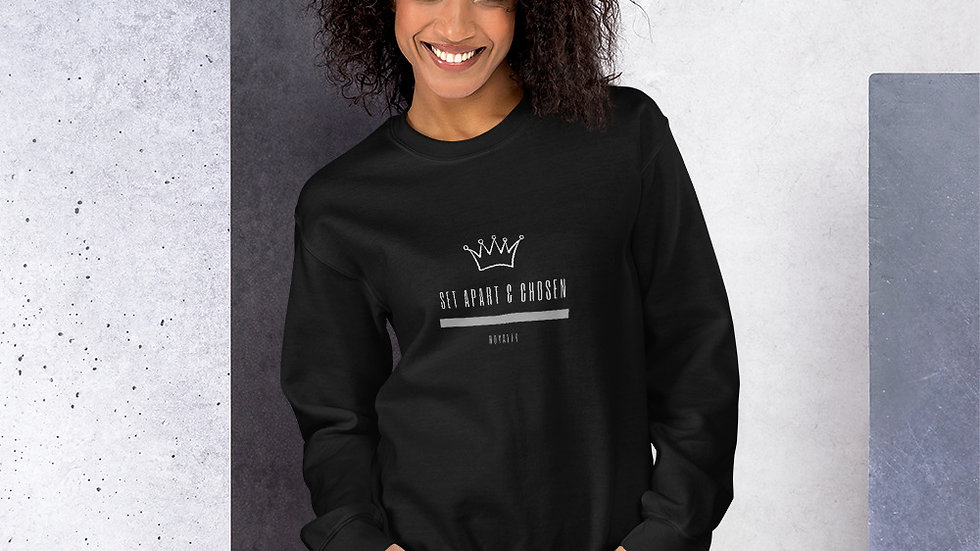 Unisex Sweatshirt - Set Apart & Chosen - Royalty