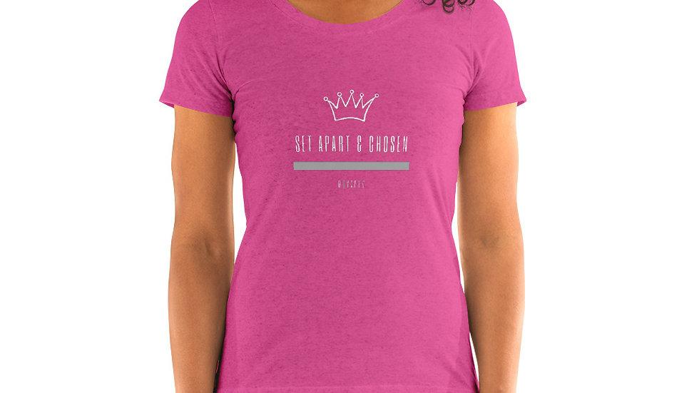 Ladies' short sleeve t-shirt - Set Apart & Chosen - Royalty