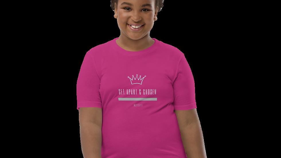 Girl's Short Sleeve T-Shirt  - Set  Apart & Chosen - Royalty