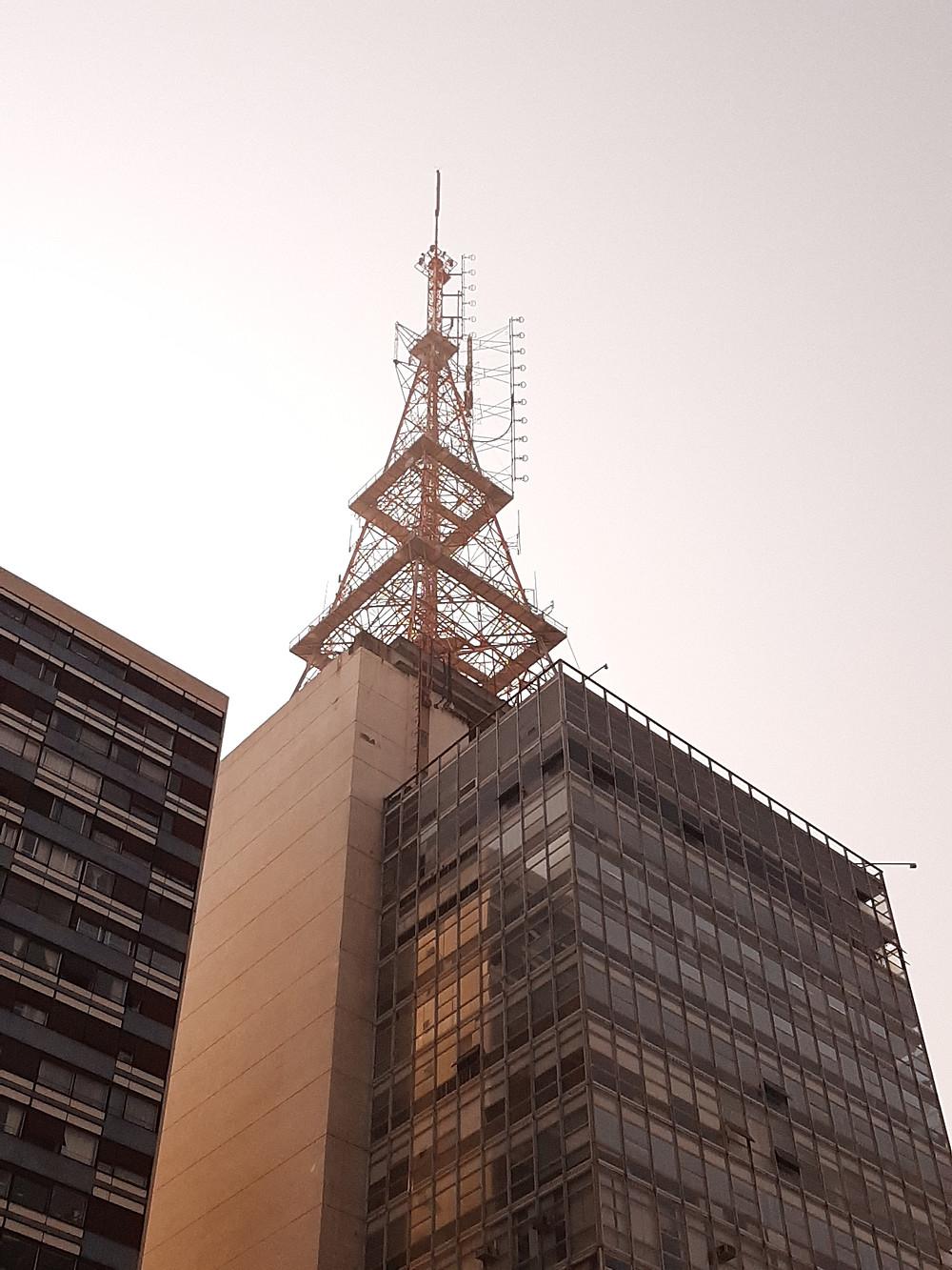 Torre da TV Gazeta. Av. Paulista. Foto: Bruno Velasco.