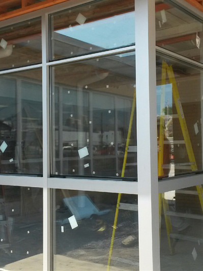 Windows being installed for new entry way.