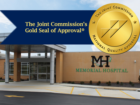Memorial Hospital Receives Gold Seal of Approval®