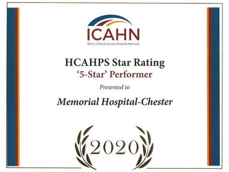 Memorial Hospital Recognized for 5-Star Rating & Top Performance