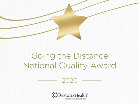 "Memorial Hospital's Wound Center Receives ""Going the Distance"" Quality Award"