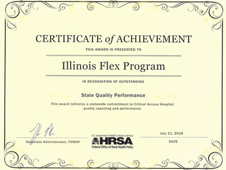 Memorial Receives Certificate for Quality Performance