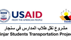 Sinjar Students Transportation Project to support 1200 students in remote areas in Sinjar