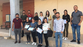 Yazda Organized First Aid Training & computer training Courses for Young women & men in Sinjar