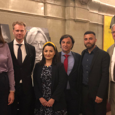 Yazda board member participates in a roundtable discussion at the Swedish Foreign Affairs