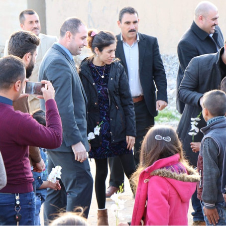 Nadia Murad's historic visit to Sinjar and Yazda Office