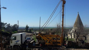 Yazda and its partners are digging two boreholes to irrigate around 17,000  olive trees in Bashiqa