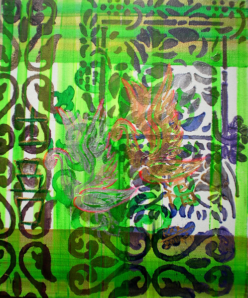 Happiness in Green! Sold to Dubai art lover
