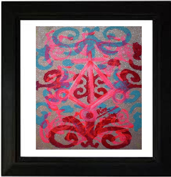 Untitled! Develop Love and Compassion Small modern artwork Sold to a Mumbai Art lover