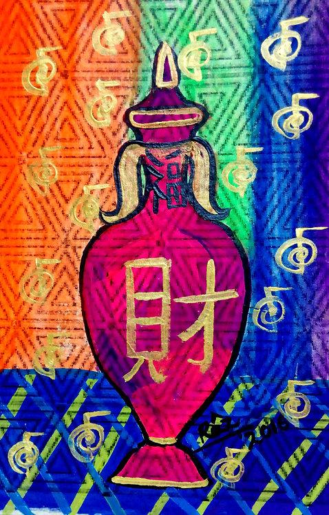 Moghul Antique Rose Water Sprinkler Feng shui Pot! Reiki Painting for wealth