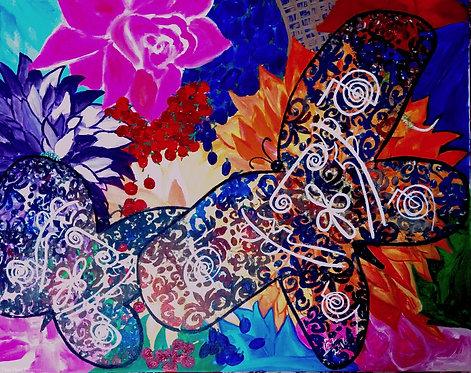 When God Opened the Basket from Heaven My Glittering Reiki Butterflies!