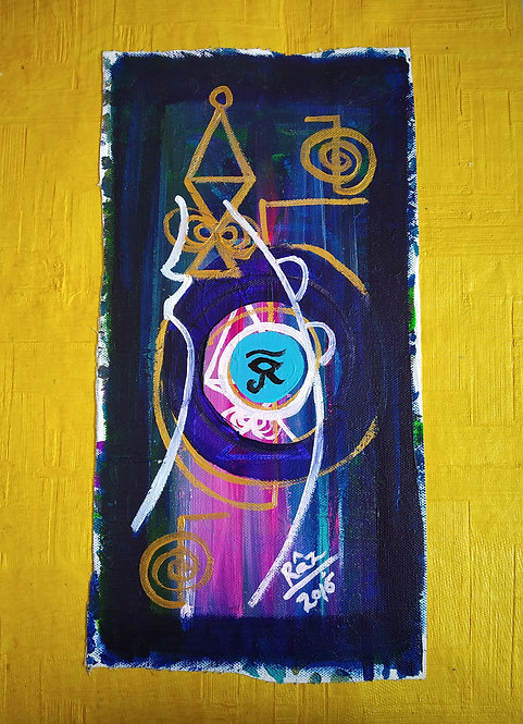 Ra! Reiki eye Protection Modern Art
