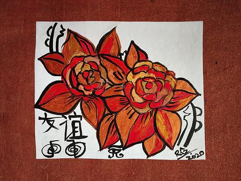 Beginning of Mature New Friendships! Reiki flower painting for love