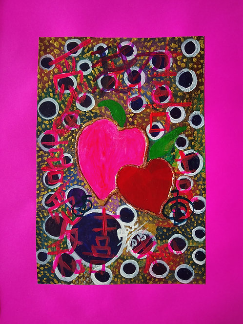Hearts of Love! Our Love is strong and will not drift apart! Chinese symbol love