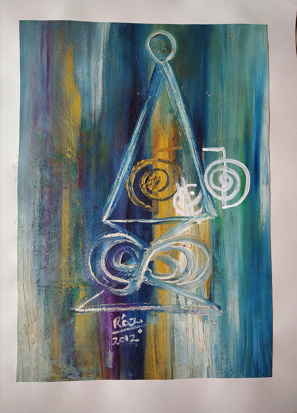 Halu reiki painting for sale ! 11x15 inches on art paper.