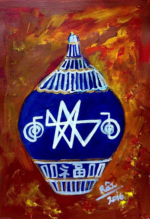 Tibetan Blue Pot of Abundance