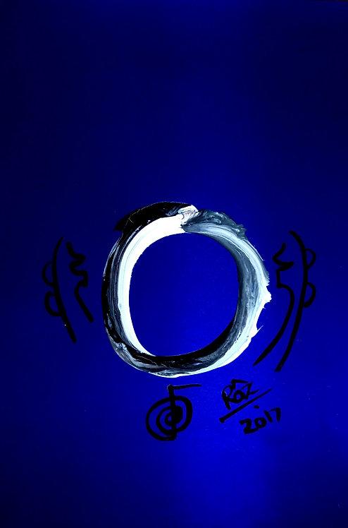 Vibrant metallic Enso Blue!  I am enlightened