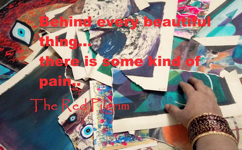 the red pilgrim tearing art