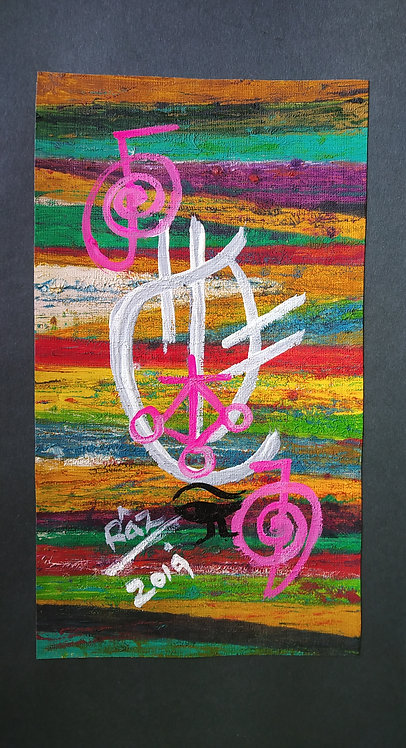 Everything is Ok! I will live a life I love! Small Reiki Sigil art