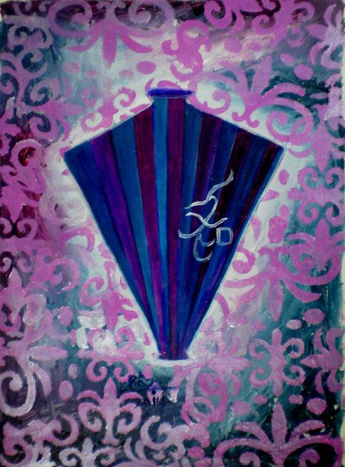 The Purple Blue Vase of Harmony