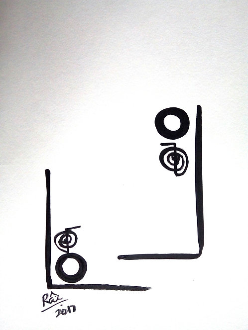 The Zentastic Pair 1! Minimalist Love energy art