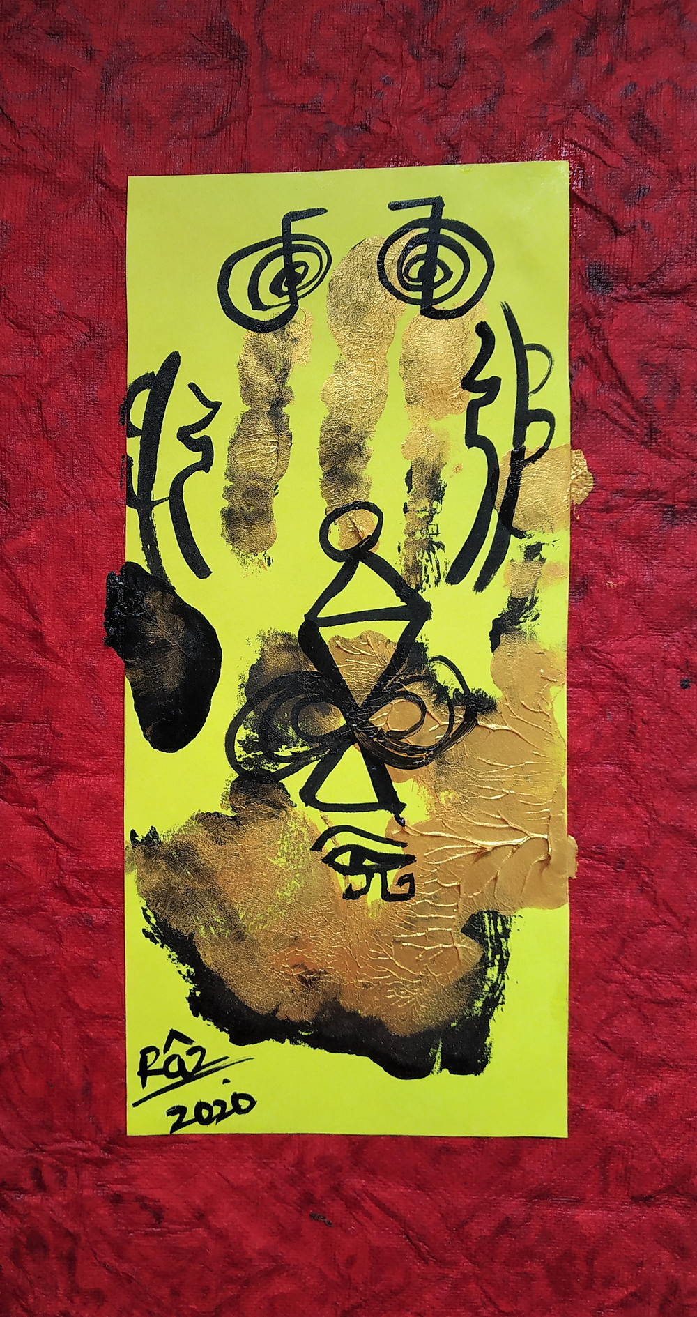 The Golden hand Print! The Red Pilgrim Hand Print!