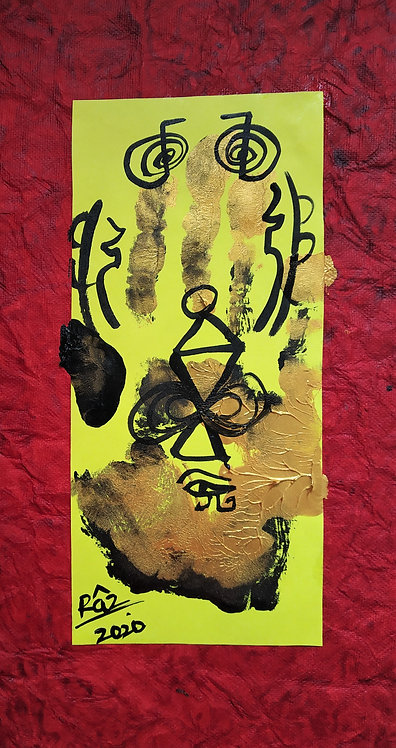 The Hand Print! Trust the flow! Reiki painting for Healing Destiny
