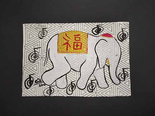 White Airavaat! Reiki Elephant of Good Luck