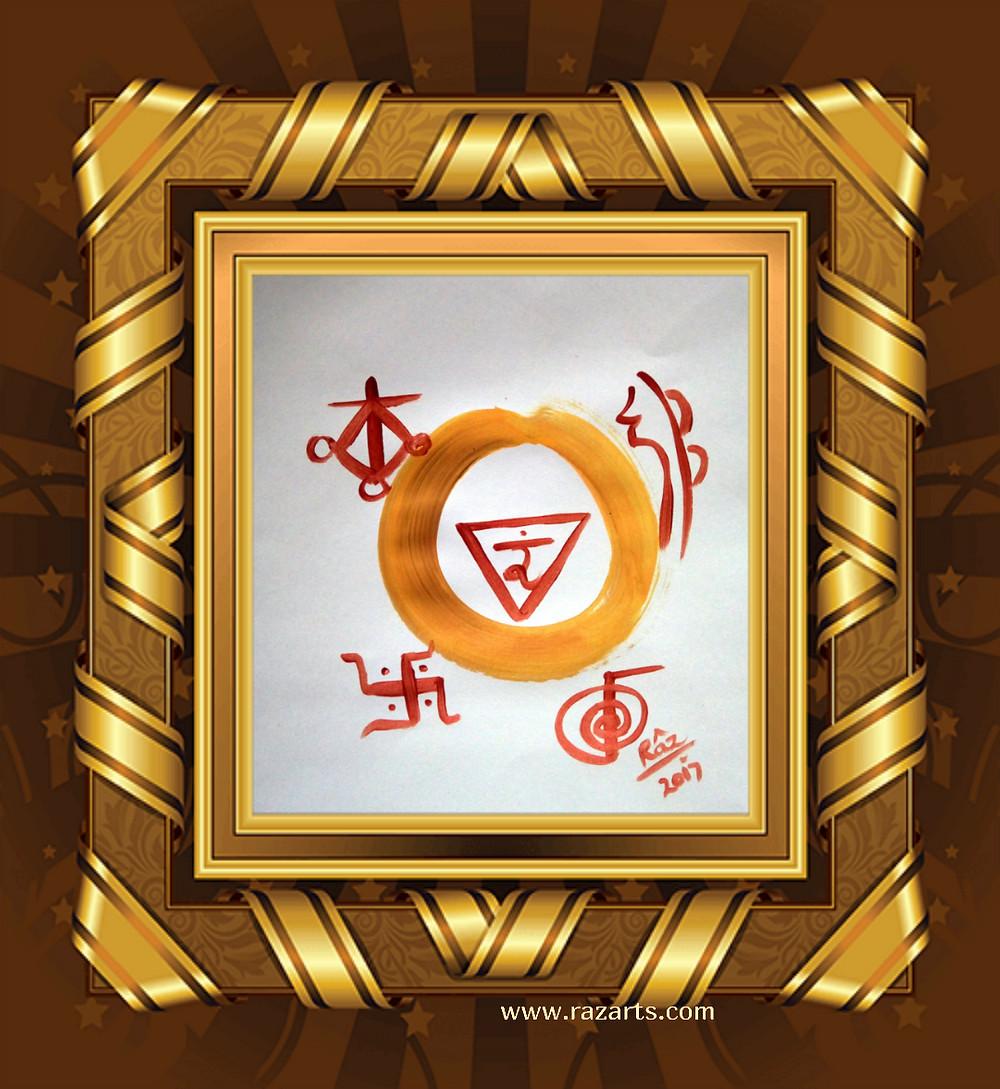 Solar Plexus Chakra healing art by Rizwana A.Mundewadi