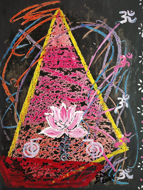 The Unalome Boat! Reiki Aum healing painting for life luck