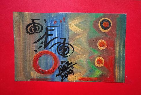Money flows easily in my life! Small Reiki Sigil art card