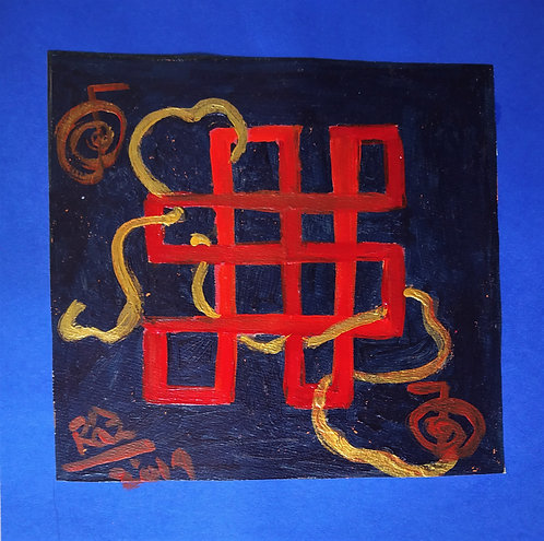 The Red Mystic Knot/Tiny healing art