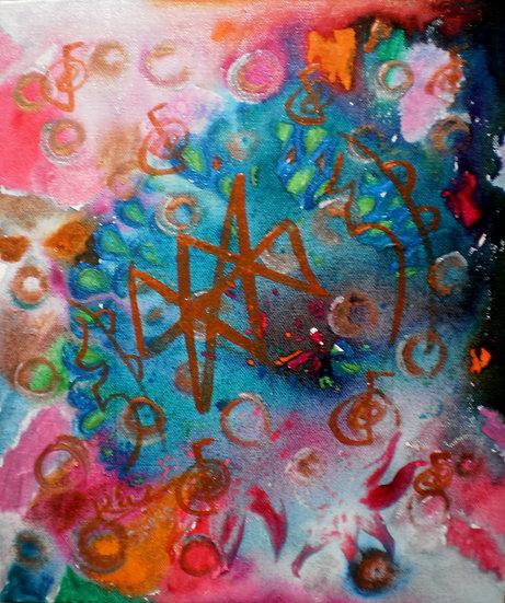 Abundance! Reiki symbol healing painting