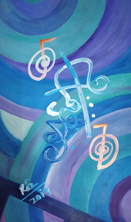 I attract like minded people I attract wealth! Reiki Sigil wealth luck art
