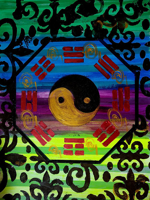 Divine The Ba Gua Luck! Feng shuii Reiki Painting