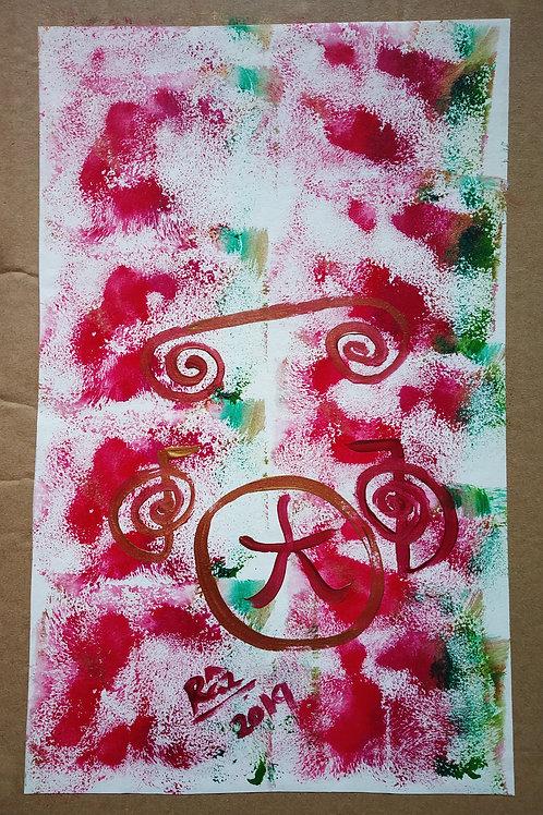 Christmas Joy 9! Pure Ta Ma Ra Sha Reiki Christmas modern art