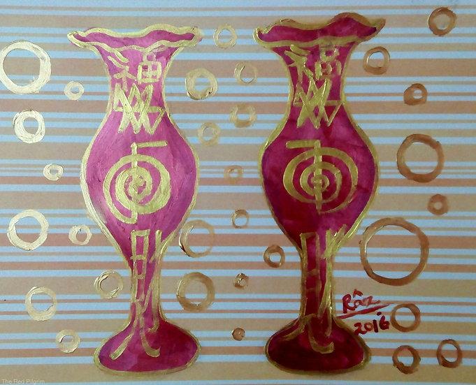 Abundance! The Pair of Reiki Copper Vases