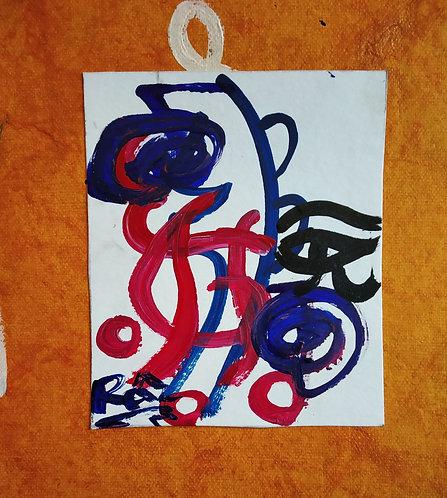 I will not be gossiped about.Tiny Reiki Sigil symbols healing art card