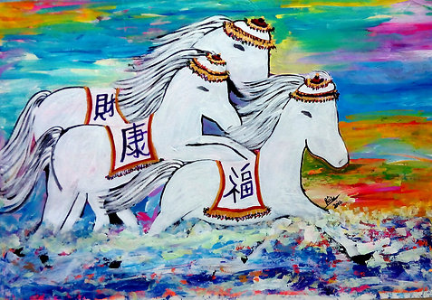Galloping Happily Ponies of the Himalayas