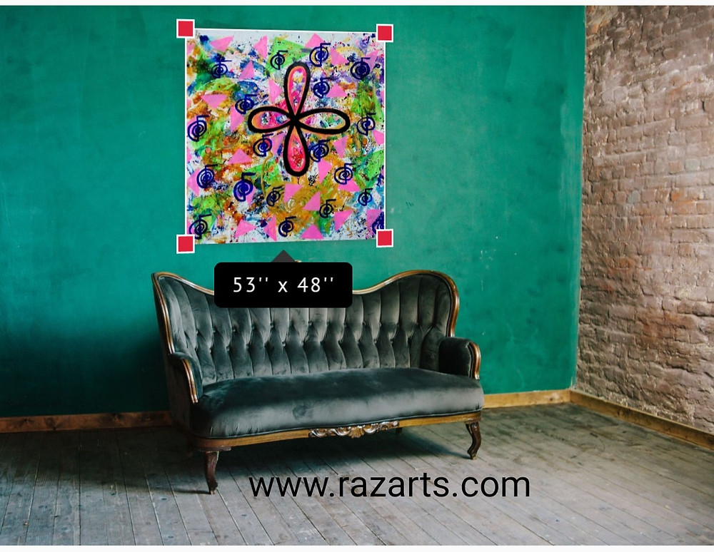 Open the windows of your heart ...Rumi inspired Reiki Divine balance healing painting